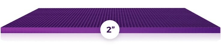two inch Purple Grid