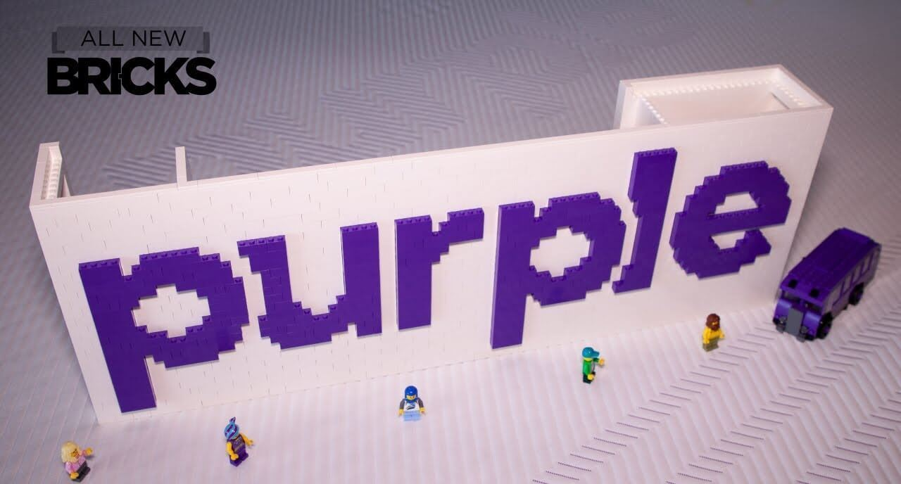 Lego Purple Logo with Purple Mattresses Speed Build