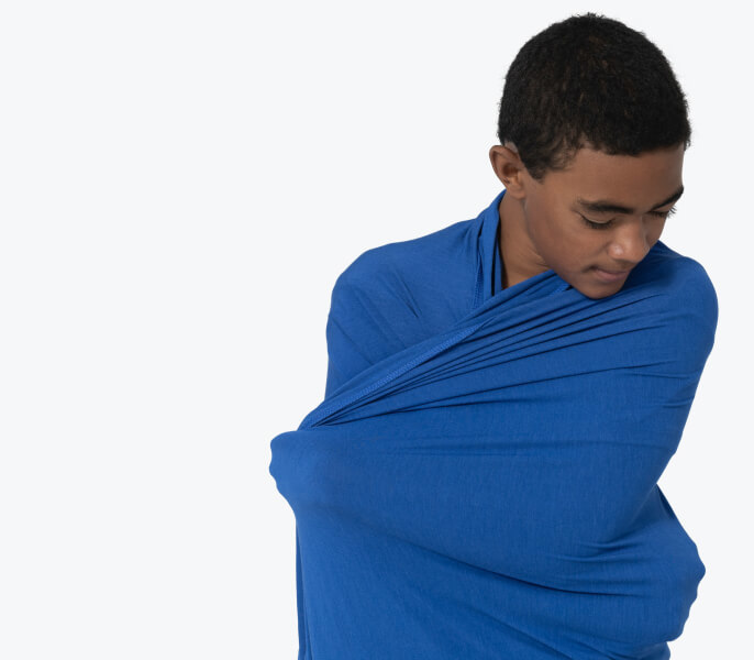 Boy In Blue Sheet Mobile