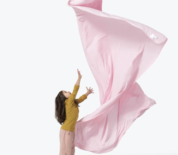 Girl With Pink Sheet Mobile