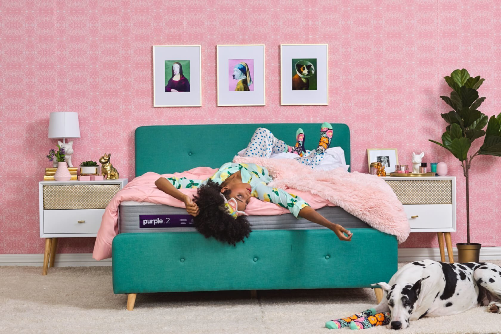 Pink Bedroom Sleeping Lifestyle image