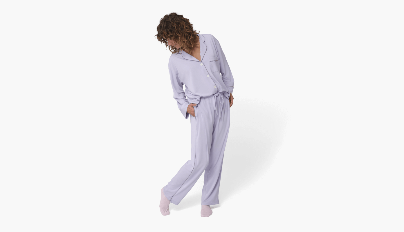 Lilac Woman Standing Pjs 1