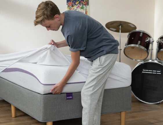 Mobile Child Making Bed