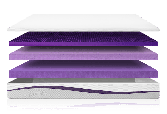 Purple Mattress Layered Image