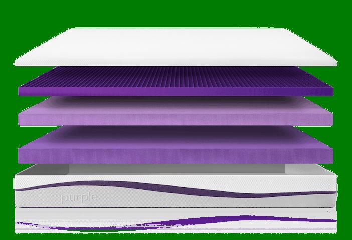 Purple Mattress Exploded 1